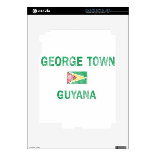 George Town Guyana Designs iPad 2 Decal