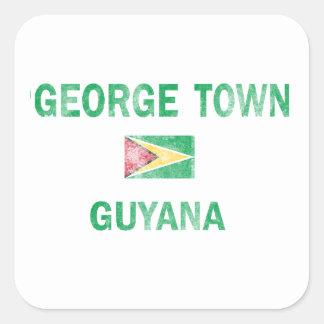 George Town Guyana Designs Square Sticker