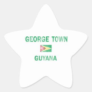 George Town Guyana Designs Star Sticker