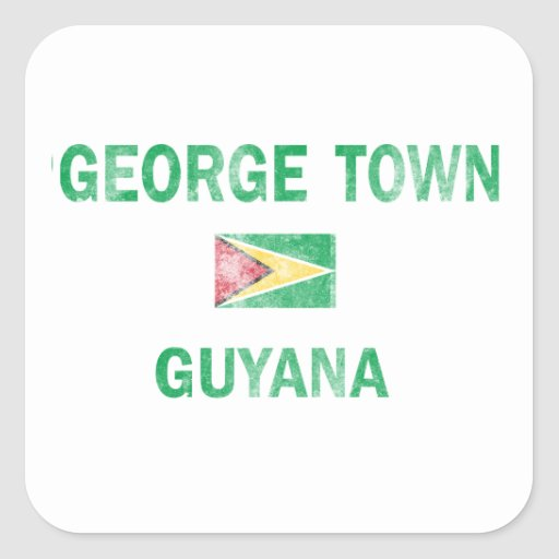 George Town Guyana Designs Stickers