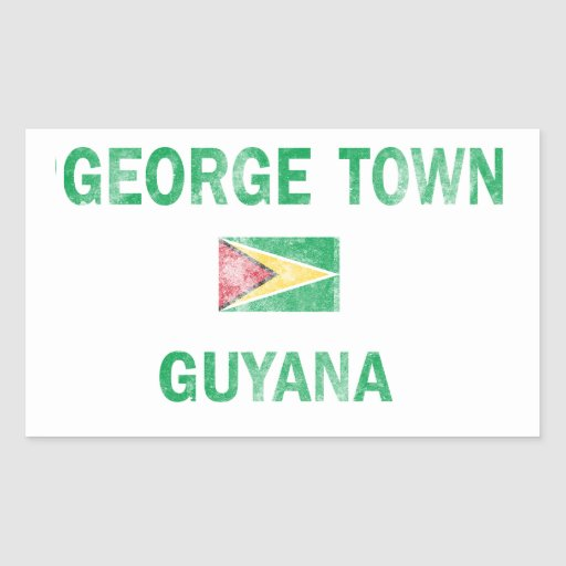 George Town Guyana Designs Rectangle Sticker