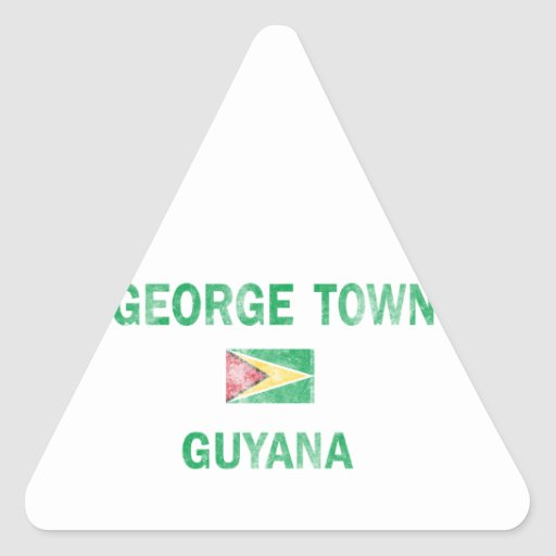 George Town Guyana Designs Triangle Sticker