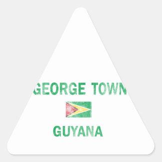 George Town Guyana Designs Triangle Sticker