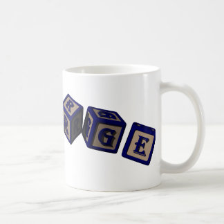 George Toy blocks in blue. Coffee Mug