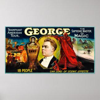 George --Triumphant American Tour Poster