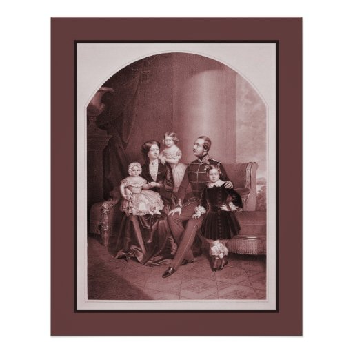George V of Hanover and family Poster