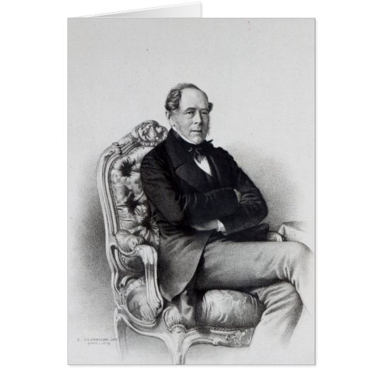 George Villiers, 4th Earl of Clarendon, 1856 Card