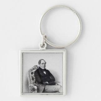 George Villiers, 4to conde de Clarendon, 1856 Llavero Cuadrado Plateado