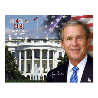 George W Bush - 43rd President of the U S Postcard