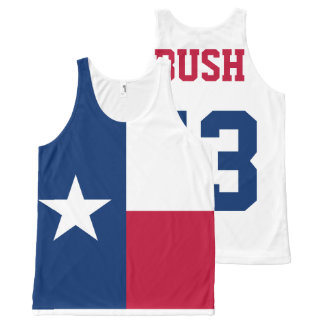 George W Bush 43rd President Texas Flag All-Over Print Tank Top