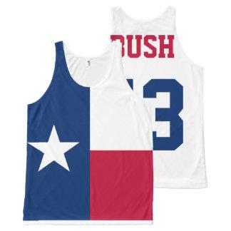 George W Bush 43rd President Texas Flag All-Over Print Tank Top