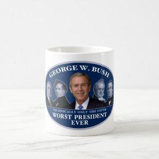 George W. Bush 5th Worst President Coffee Mug