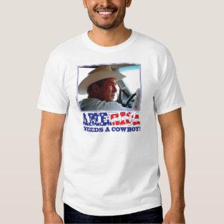 George W Bush - América necesita a un vaquero Remera