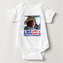 George W Bush - America Needs a Cowboy Baby Bodysuit