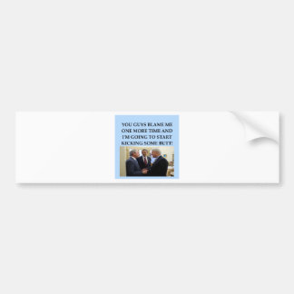 george w bush anti obama joke bumper sticker