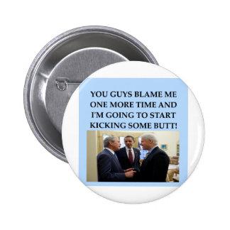 george w bush anti obama joke button