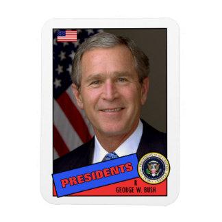 George W. Bush Baseball Card Rectangular Photo Magnet