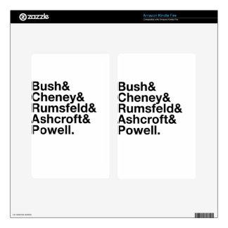 George W. Bush Cabinet Ampersand Kindle Fire Skin
