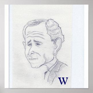George W. Bush Caricature Poster
