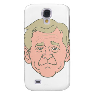 George W. Bush Cartoon Face Samsung S4 Case