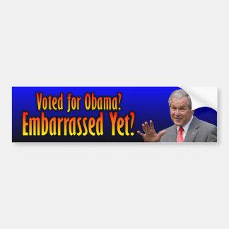 George W. Bush: ¿Desconcertado todavía? Etiqueta De Parachoque
