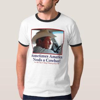 George W Bush en gorra de vaquero Playera