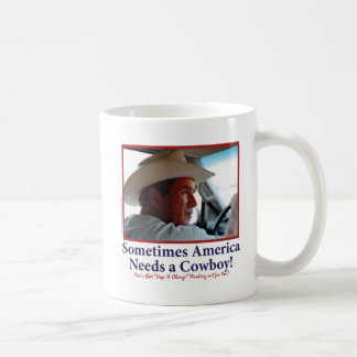George W Bush en gorra de vaquero Taza