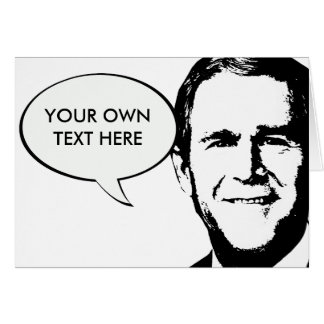 George W Bush Gear Card