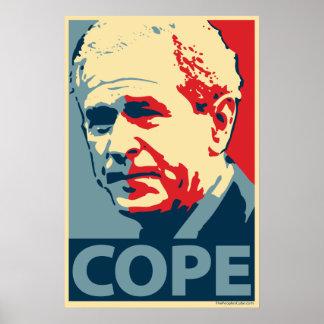 George W. Bush - haga frente: Poster de OHP Póster