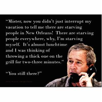 George W. Bush hambriento Fotoescultura Vertical