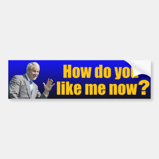 George W. Bush: How do you like me now? Bumper Sticker