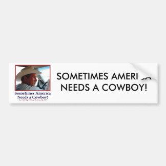 George W Bush in Cowboy Hat Bumper Stickers