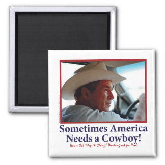 George W Bush in Cowboy Hat Magnet
