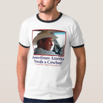George W Bush in Cowboy Hat T-Shirt