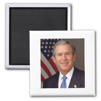 George W Bush 2 Inch Square Magnet