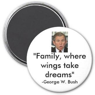 George W. Bush 3 Inch Round Magnet