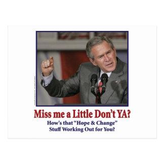 George W Bush Miss Me un poco Tarjeta Postal