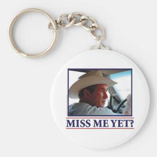 George W Bush Miss Me Yet Keychain