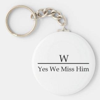 George W Bush miss me yet? Yes we miss him. Keychain