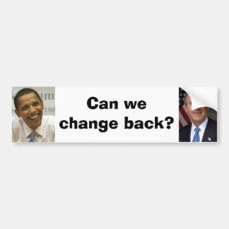 ¿George-w-Bush, obama, podemos cambiar detrás? Pegatina Para Auto