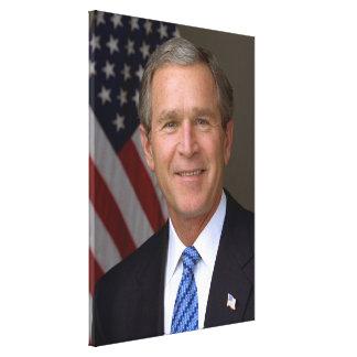 George W. Bush official portrait Canvas Print