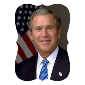 George W. Bush official portrait Card