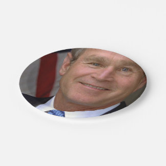 George W. Bush official portrait Paper Plate