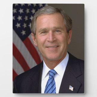 George W. Bush official portrait Display Plaque