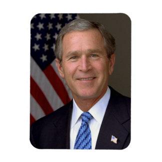 George W. Bush official portrait Rectangular Photo Magnet