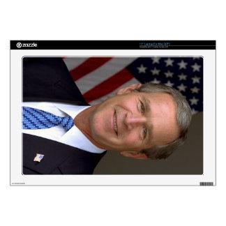 George W. Bush official portrait Laptop Skin