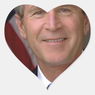 George W. Bush official portrait Heart Sticker