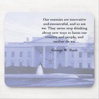 George W Bush on Enemies Mousepad