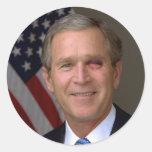 George W. Bush Pegatinas Redondas