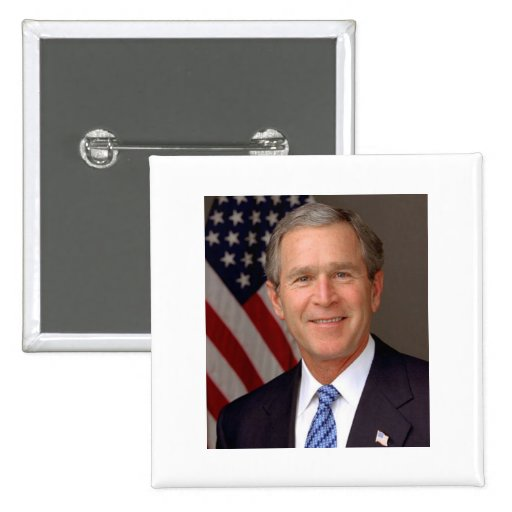 George W Bush Pin Cuadrado
